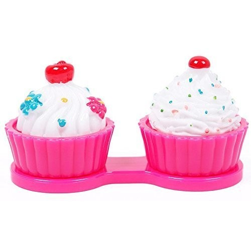 Pink Cupcake Contact Lens Cleaning Case Lens Cleaner