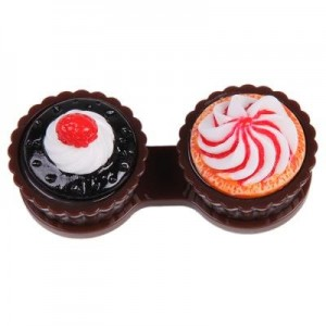 Brown Cupcake Contact Lens Cleaning Case Lens Cleaner